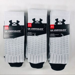 3 Pairs Under Armour Adult Unrivaled Crew Socks